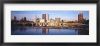 Framed Bridge across a river, Scioto River, Columbus, Ohio, USA