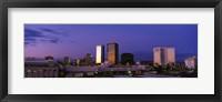 Framed Phoenix Skyline at dusk, Arizona
