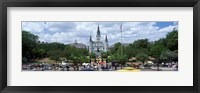 Framed Cathedral at the roadside, St. Louis Cathedral, Jackson Square, French Quarter, New Orleans, Louisiana, USA