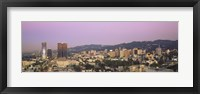 Framed High angle view of a cityscape, Hollywood Hills, City of Los Angeles, California, USA