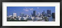 Framed View of skyscrapers in Atlanta on a sunny day, Georgia, USA