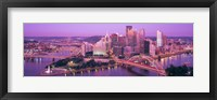 Framed Dusk, Pittsburgh, Pennsylvania, USA