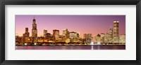 Framed Dusk Skyline Chicago IL USA