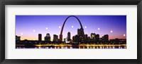 Framed Skyline St Louis Missouri USA