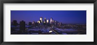 Framed Skyscrapers at dusk, Minneapolis, Minnesota, USA