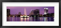 Framed View Of A City Skyline At Night, Orlando, Florida, USA