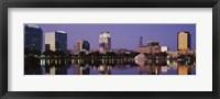 Framed Office Buildings Along The Lake, Lake Eola, Orlando, Florida, USA