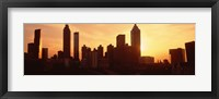 Framed Sunset Skyline, Atlanta, Georgia, USA