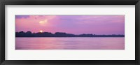 Framed Sunset Mississippi River Memphis TN USA