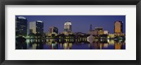 Framed Reflection of buildings in water, Orlando, Florida