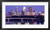 Framed Minneapolis at Night