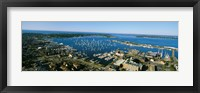 Framed Aerial view of a harbor, Newport Harbor, Newport, Rhode Island, USA