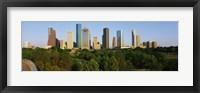 Framed Downtown Houston