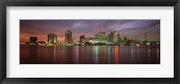 Framed Buildings lit up at the waterfront, New Orleans, Louisiana, USA