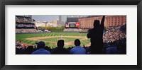 Framed Baseball Game Baltimore Maryland