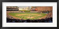 Framed Camden Yards Baseball Game Baltimore Maryland