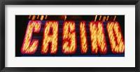 Framed Casino Sign Las Vegas NV