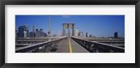 Framed Bench on a bridge, Brooklyn Bridge, Manhattan, New York City, New York State, USA