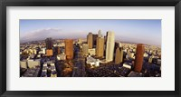 Framed High angle view of the Financial District, Los Angeles, California, USA