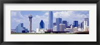 Framed Dallas, Texas Skyline (day)