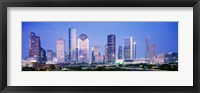 Framed Houston Skyline Lit Up, Texas