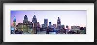 Framed Philadelphia Lit Up At dusk