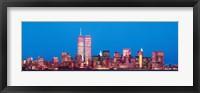 Framed Evening Lower Manhattan New York NY
