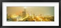 Framed USA, Georgia, Atlanta, Fog in Atlanta