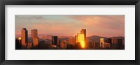 Framed Denver skyline