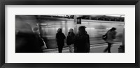 Framed Subway, Station, NYC, New York City, New York State, USA