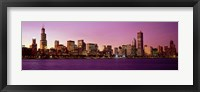 Framed Skyline At Sunset, Chicago, Illinois, USA