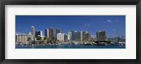 Framed Honolulu, Hawaii Skyline