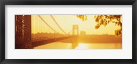 Framed Bridge across the river, George Washington Bridge, New York City