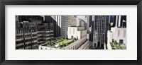 Framed Rooftop View Of Rockefeller Center, NYC, New York City, New York State, USA