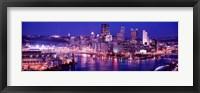 Framed USA, Pennsylvania, Pittsburgh at Dusk