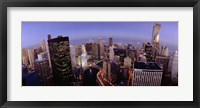 Framed USA, Illinois, Chicago, Chicago River, High angle view of the city