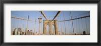 Framed USA, New York State, New York City, Brooklyn Bridge at dawn