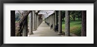 Framed Columns Along A Path In A Garden, Maymont, Richmond, Virginia, USA