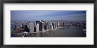 Framed High Angle View Of Skyscrapers In A City, Manhattan, NYC, New York City, New York State, USA