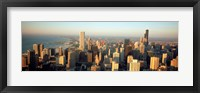Framed High angle view of buildings in a city, Chicago, Illinois