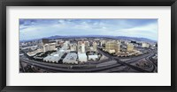 Framed Aerial view of a city, Las Vegas, Nevada