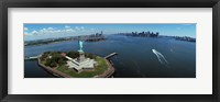 Framed Aerial View of the Statue of Liberty, New York City