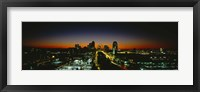 Framed High Angle View Of A City Lit Up At Dawn, St. Louis, Missouri, USA