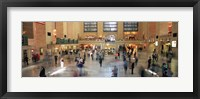 Framed Passengers At A Railroad Station, Grand Central Station, Manhattan, NYC, New York City, New York State, USA