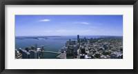 Framed Aerial view of a city, Miami, Florida