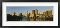 Framed High angle view of buildings at the waterfront, Columbus, Ohio, USA
