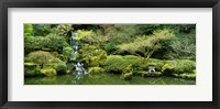 Framed Waterfall in a garden, Japanese Garden, Washington Park, Portland, Oregon, USA