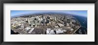 Framed Aerial view of a city, San Diego, California, USA