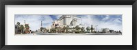 Framed Clouds over buildings in a city, Digital Composite of the Las Vegas Strip, Las Vegas, Nevada, USA