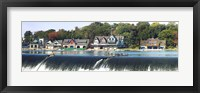 Framed Boathouse Row at the waterfront, Schuylkill River, Philadelphia, Pennsylvania
